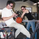 Lee and Sarah Glassblowing